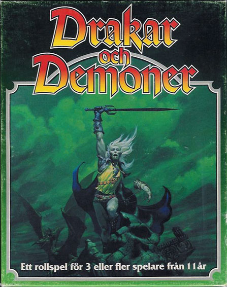 Drakar och Demoner... and yes, that is artwork from the Stormbringer RPG, I guess they got some deal